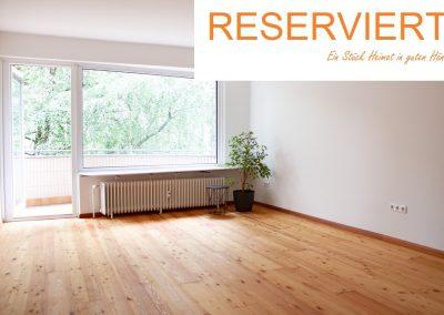 Wohnung zum Wohlfühlen mit großem Balkon und viel Grün drumherum