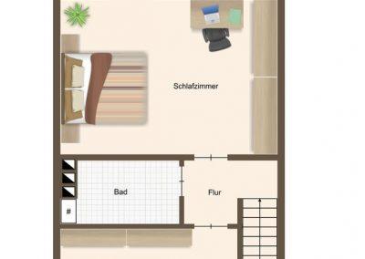 Vermietetes modernisiertes Reihenhaus in grüner und ruhiger Lage mit ausgebautem Dachgeschoss