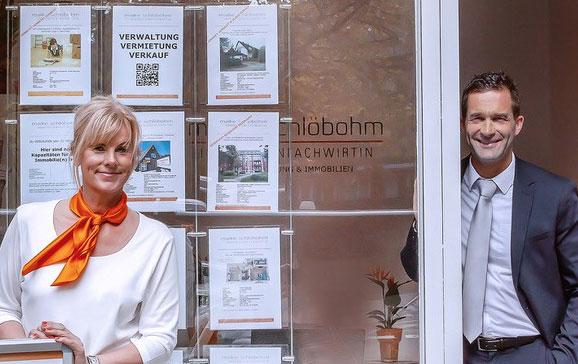 Maike Schlöbohm und Dominique Drexel, Immobilienmakler in Hamburg